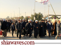 تصویر پیاده روی  فرهیختگان علمی و مذهبی  جهان اسلام در اربعین حسینی