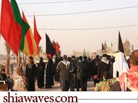 تصویر سنت دیرینه پیاده روی زائران کربلا بمناسبت اربعین حسینی