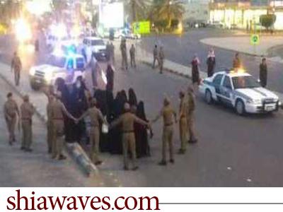 تصویر بازداشت شماری از کودکان و زنان منطقه القصيم عربستان