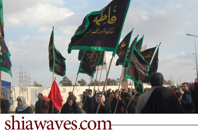 تصویر حضور پر شور شیعیان عراق در شهر سامرا: