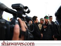 تصویر بازگشت 50 گروه  تصویر بردار و  مستند ساز شبکه جهانی امام حسین علیه السلام ،از عراق