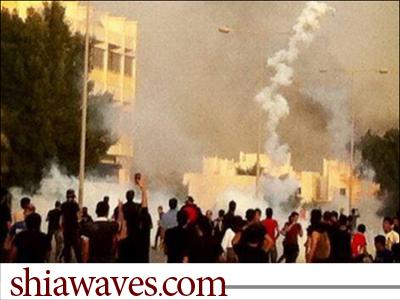 تصویر شلیک گسترده گاز سمی در مناطق مسکونی بحرین
