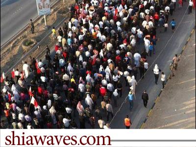 Photo of تظاهرات گسترده بحرینی علیه اشغالگران