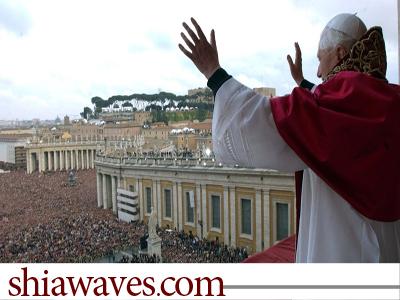 تصویر استعفای نا گهانی پاپ رهبر کاتولیک های جهان