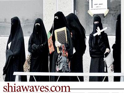 تصویر تحصن دانش آموزان عربستانی در پی اهانت  یکی از معلمان به شیعیان