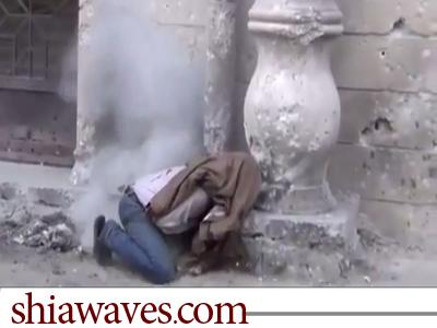 تصویر تیرباران مردم سوریه در کنار مساجد اقدام جدید تروریستهای وهابی