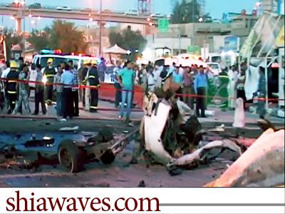 تصویر انفجار تروریستی در شهر نجف اشرف