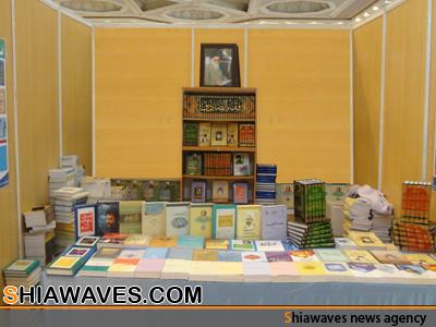تصویر عرضه مجموعه آثار حضرت آیت الله العظمی روحانی در نمایشگاه بین المللی کتاب تهران