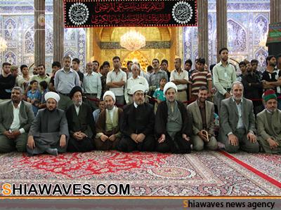 تصویر تشرف هیئتی از انجمن علمای مسلمان لبنان به زیارت حرم امام حسین علیه السلام