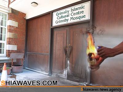 تصویر حمله به مسجدی در شمال انگلیس