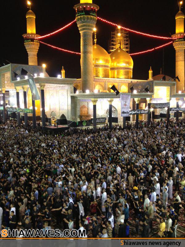تصویر حضور بیش از هفت میلیون زائر در شهر کاظمین