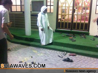 تصویر حمله به مراسم عید مبعث درروستای جدعلی بحرین