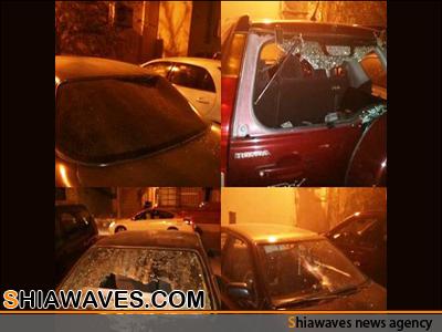 تصویر حمله مزدوران شبه نظامی آل خلیفه به یک منطقه شیعه نشین