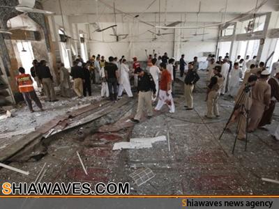 تصویر انفجار تروریستی در مسجد شیعیان پیشاور