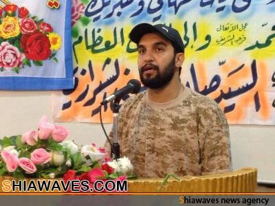 تصویر حضور کربلایی حمید علیمی در صف مدافعان حرم حضرت زینب کبری سلام الله علیها