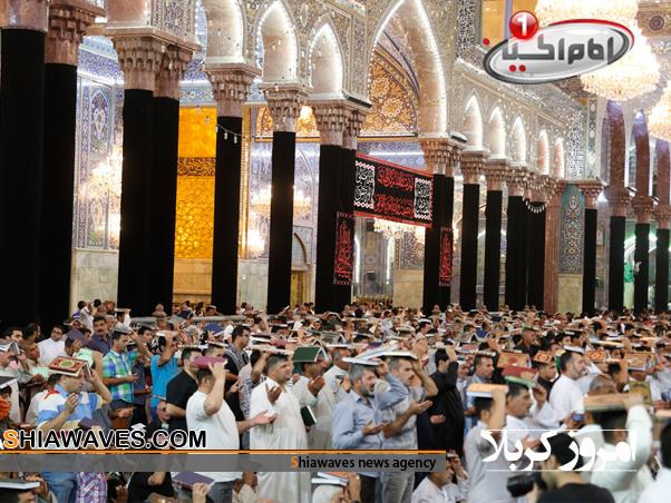 تصویر مراسم شب قدر صحن مطهر حسینی -19 ماه مبارک رمضان