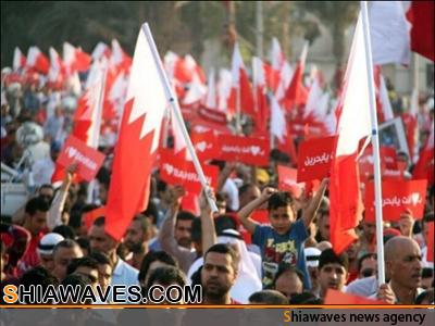 تصویر تظاهرات گسترده علیه حکومت آل خلیفه در منا طق شیعه نشین بحرین