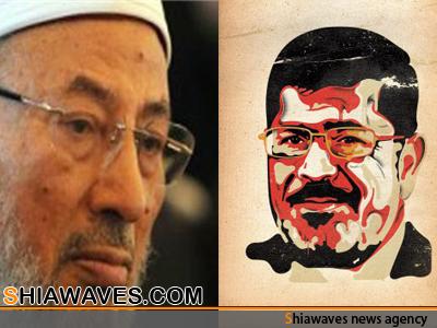 تصویر سقوط مرسی مساوی با سقوط نقش قرضاوی در منطقه