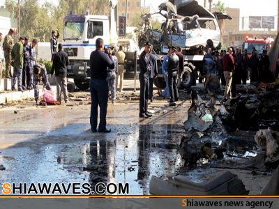 تصویر انفجار انتحاری در حسینیه شیعیان شمال بغداد