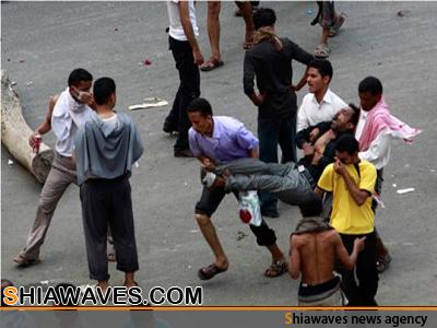 تصویر شهادت دو تن از شیعیان یمن به ضرب گلوله سلفی ها