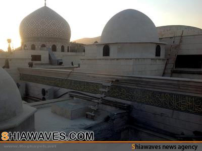 تصویر اصابت موشک به مسجد مجاور حرم حضرت رقیه سلام الله علیها