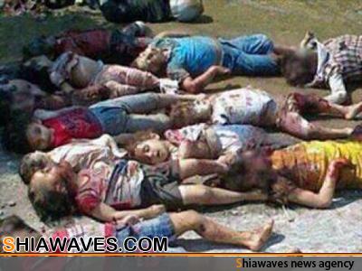 تصویر انتقام گیری جبهه النصره، از کودکان و زنان بی دفاع