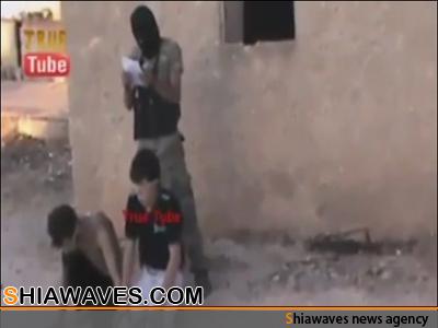 تصویر اعدام دو نوجوان شیعه در سوریه + فیلم