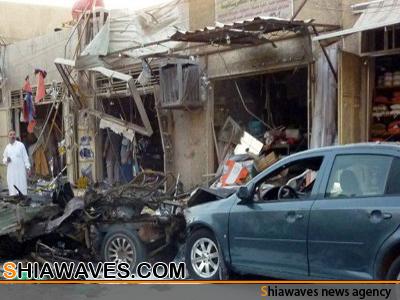تصویر انفجارهای تروریستی در مناطق شیعه نشین بغداد