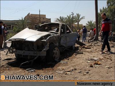 تصویر انفجار 11خودروری بمب گذاری شده در مناطق شیعه نشین عراق