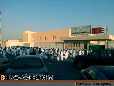 تصویر تعطیلی دبیرستان شیعیان در شهر العوامیه عربستان