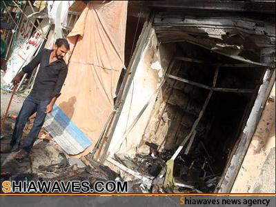 تصویر شهادت تنها نان آوریک خانواده شیعه