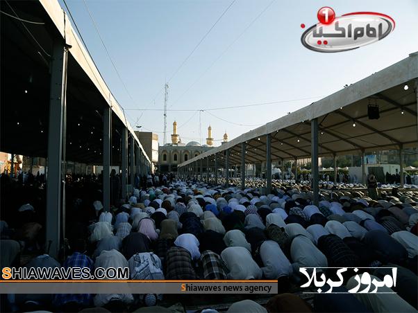 تصویر نماز عید قربان در کربلای معلی