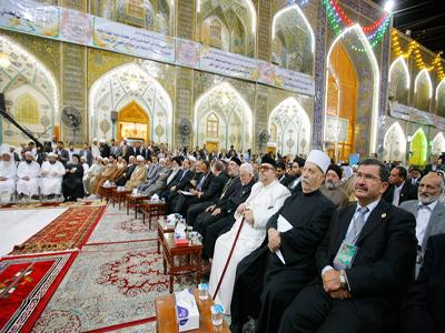 تصویر حضور شخصیت های دینی از 33 کشور جهان  در جشنواره بین المللی غدیر