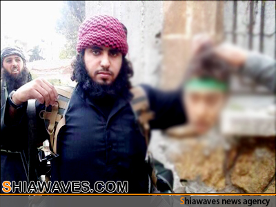 """تصویر ذبح جوان 16 ساله سوری با سربند """" یارقیه """""""