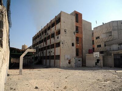 تصویر انفجار بمب در یک شهر شیعه نشین در استان حمص سوریه