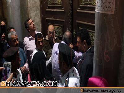 تصویر درهای مسجد«رأس الحسین علیه السلام » قاهره همچنان بر روی شیعیان بسته است