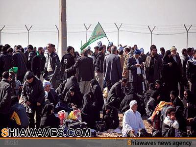 تصویر مرز شلمچه  ، تا اربعین حسینی برای تردد انفرادی باز است