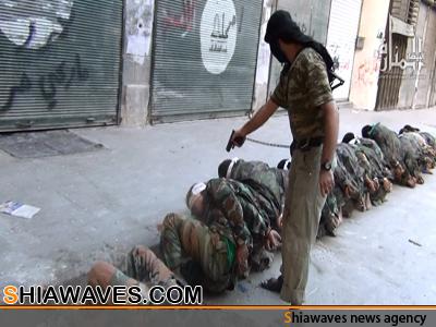 تصویر اعدام اعضای 7خانواده ی شیعه در سوریه