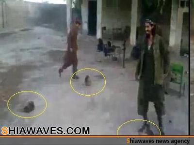 تصویر فوتبال با سرهای بریده ، جنایت جدید تروریست های سوری