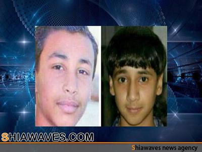 تصویر بازداشت دو کودک بحرینی برای بازجویی