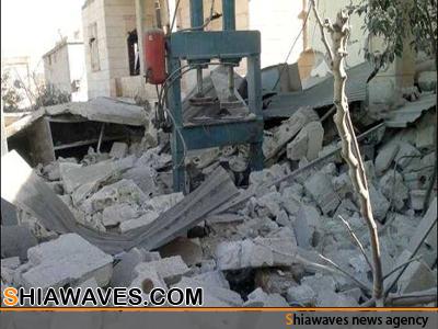 تصویر اصابت دهها موشک به دو شهرک شیعه نشین در سوریه