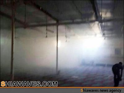 تصویر حمله مزدوران آلخلیفه به بزرگترین مسجد شیعیان بحرین
