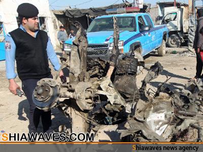 تصویر ۳۰ شهید بر اثر حمله تروریستی در شهر شیعه نشین عراق