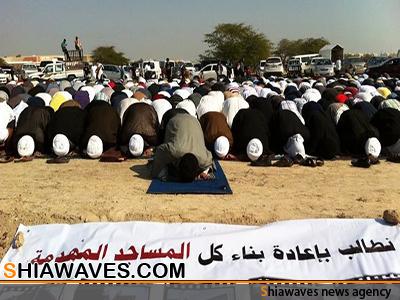 تصویر بازداشت شیعیان بحرینی به جرم اقامه نماز جماعت!