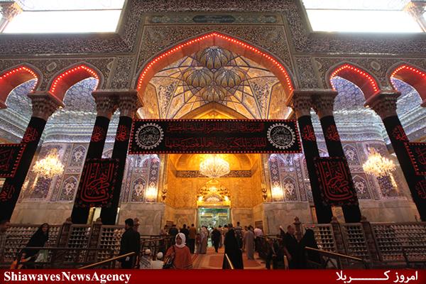 تصویر حرم حسینی سیاه پوش عزای ام ابیها