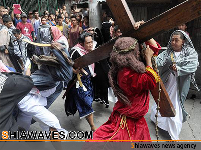 تصویر جدال بر سر یکی از آئین های مذهبی در مسیحیت