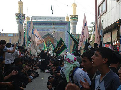 تصویر آمادگی شهر کاظمین برای حضور میلیونی زائران امام موسی کاظم علیه السلام