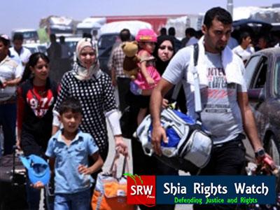 تصویر وضعیت اسفناک شیعیان موصل در مرزهای ترکیه