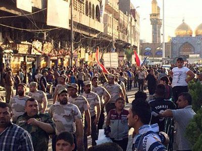 تصویر رژه نظامی هيئت عقيله بنيهاشم در شهر کاظمین