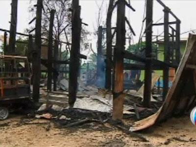 تصویر حمله مجدد بوداییان تندرو به مسلمانان شهر ماندالا در میانمار